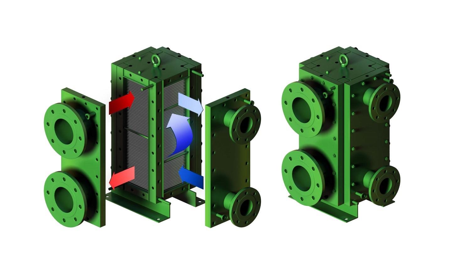 طراحی مبدل حرارتی صفحه ای جوشی